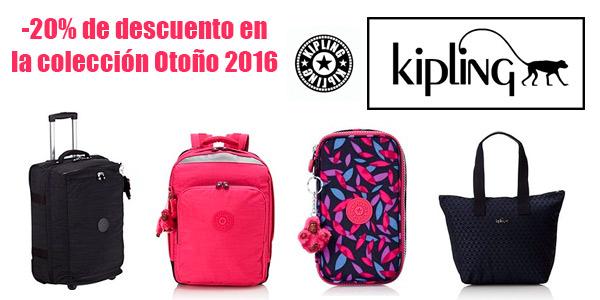 hasta un 20% de descuento en equipaje Kipling colección otoño 2016