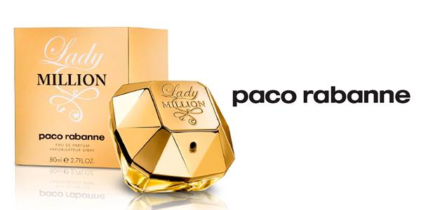 Agua de Perfume Lady Million de Paco Rabanne 80 ml en oferta
