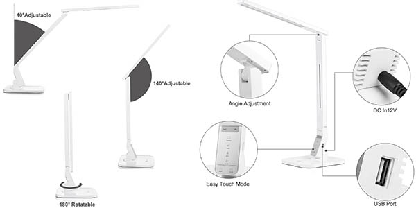 luminaria de diseño moderno recargable led