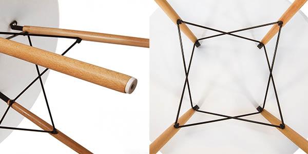 mesa redonda madera hood funcional