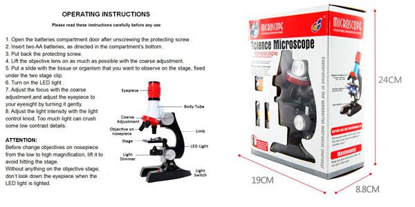 Observaciones con microscopio infantil