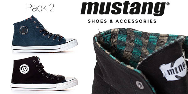 mustang trend high chico pack 2 zapatillas barato