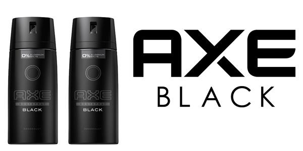 pack 2 unidades axe black desodorante
