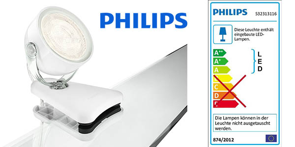 philips myliving dyna lampara led pinza