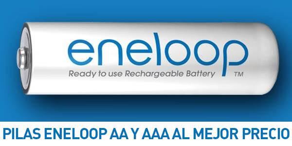PIlas recargables Panasonic Eneloop AA y AAA