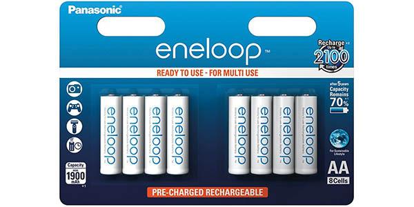 Pack 8 pilas recargables Eneloop AA