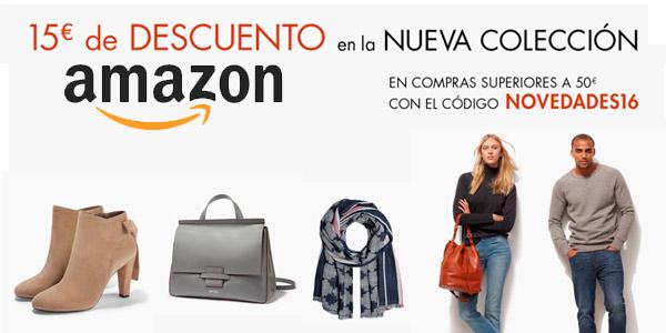 promocion 15 euros descuento nueva coleccion amazon
