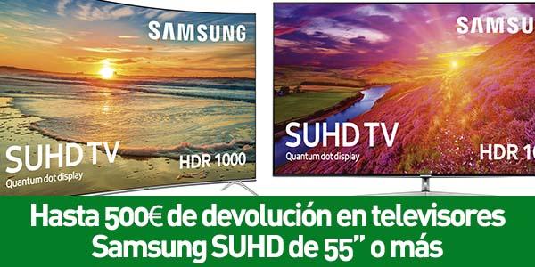 Hasta 500€ de devolución en televisores Samsung