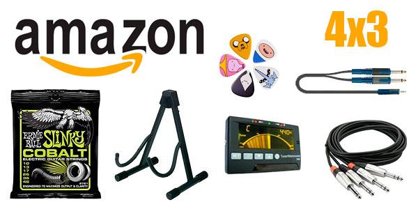 Promoción 4x3 en accesorios para instrumentos musicales en Amazon