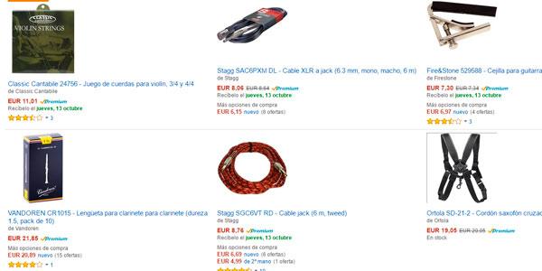 Ofertas en accesorios para instrumentos musicales en Amazon