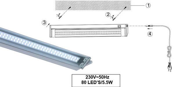 aplique led facil instalacion iluminacion potente