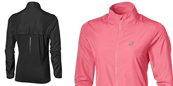 asics running chaqueta transpirable impermeable