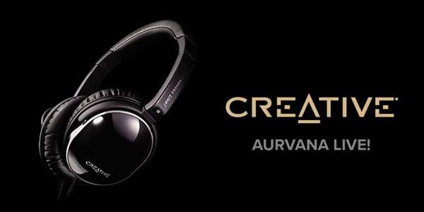 Auriculares de diadema cerrados Creative Aurvana Live! en oferta