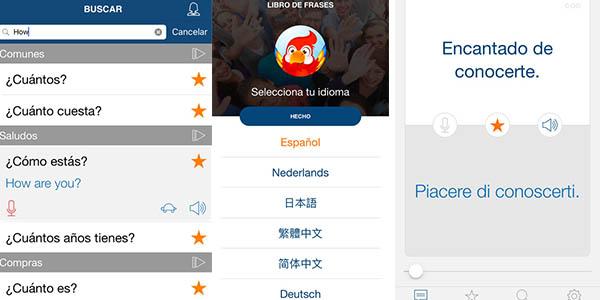Bravovol libro de frases en App con idiomas para viajar