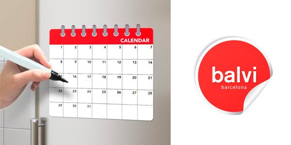 Pizarra magnética barata Balvi con función de calendario