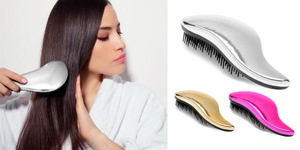 Cepillo desenredante para todo tipo de cabello sin dolor ni tirones