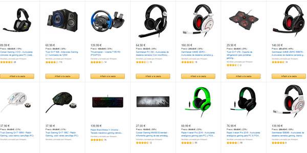 ratones de gaming teclados gamers y accesorios con descuento en Amazon
