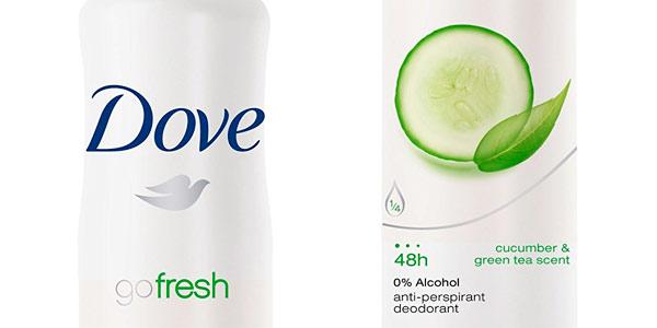 Desodorante en spray Dove Go Fresh oferta 2x1