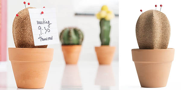 funcional cactus corcho organizador escritorio barato