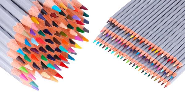 Kit de lápices de madera de 72 colores diferentes con funda enrollable a buen precio