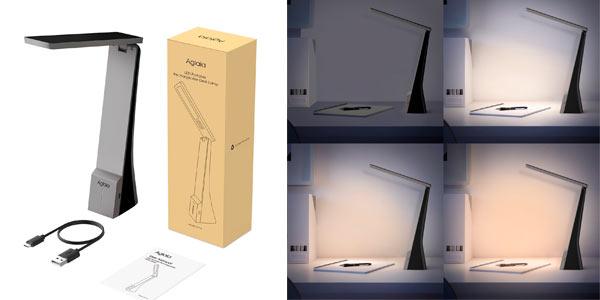 Lámpara LED de escritorio plegable e inalámbrica a buen precio