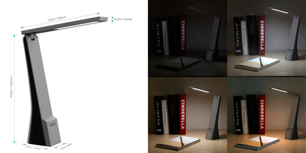 Lámpara de escritorio LED barata con batería y diferentes modos de luz