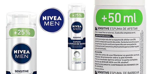 nivea sensitive espuma afeitar 250 ml barata