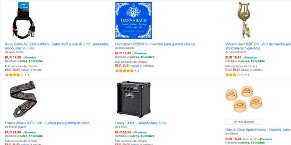 Ofertas en accesorios para instrumentos musicales promoción 4x3 de Amazon