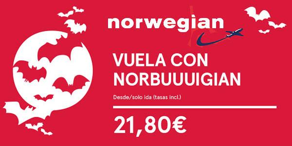 ofertas halloween norwegian vuelos baratos 2016