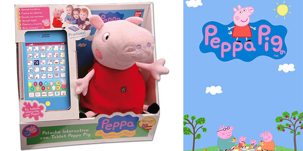 peppa pig muñeco interactivo tablet barata