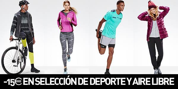 15€ de descuento en ropa de deporte y aire libre Amazon