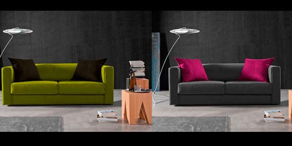 Sofa barato y resistente con tela antimanchas