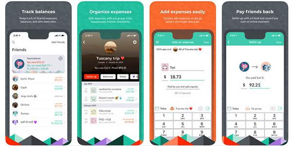 Splitwise App para dividir gastos en viajes