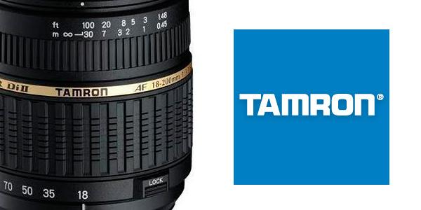 Objetivo con montura para cámaras Nikon de la marca Tamron macro barato