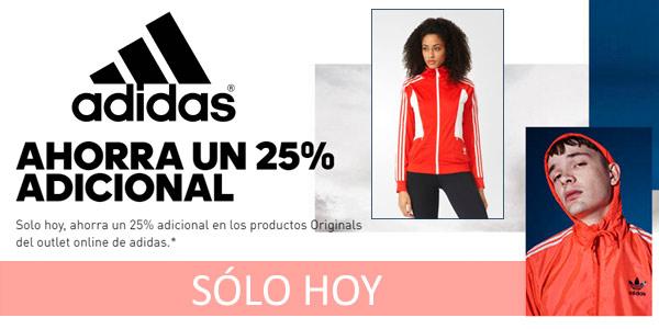 25% de descuento adicional en ropa deportiva Adidas Originals de Outlet