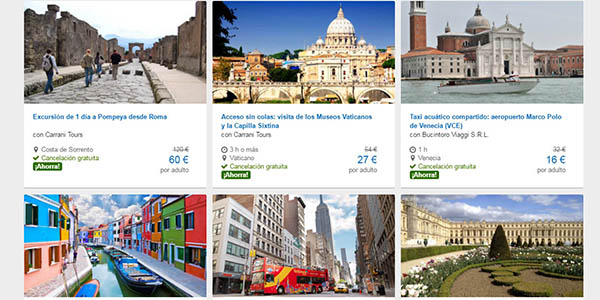 actividades rebajadas viajes expedia