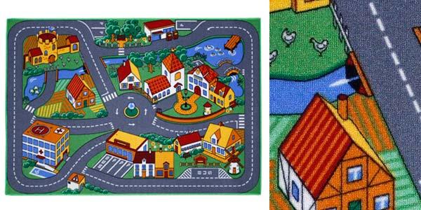 Alfombra de juegos infantil con circuito de carreteras barata