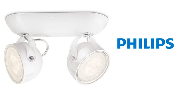 Aplique LED con 2 focos Philips MyLiving Dyna rebajado en Amazon