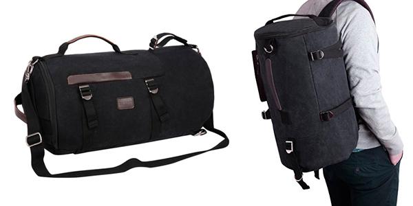 Bolso de viaje barato convertible en mochila para el gimnasio o para llevar portátil