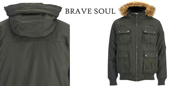 brave soul men's knight faux fur trim hooded cazadora hombre barata