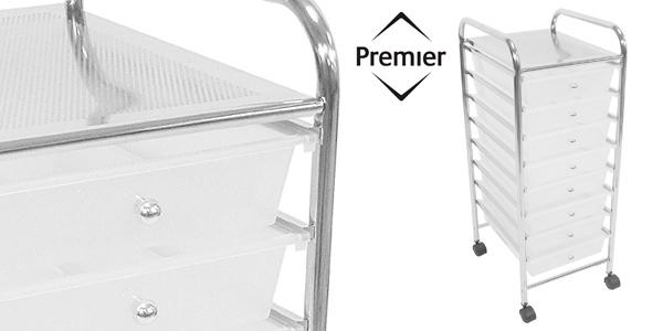 Carrito Auxiliar con ruedas de 8 cajones para almacenaje Premier Housewares