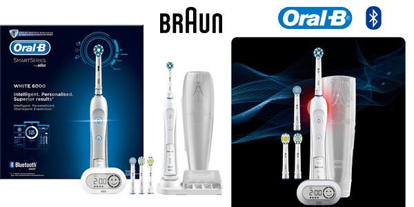 Cepillo eléctrico recargable Bluetooth Oral-B White 6000 CrossAction en las rebajas de Black Friday de Amazon