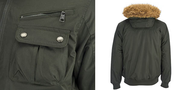 chaqueta estilo militar hombre brave soul relacion calidad-precio brutal