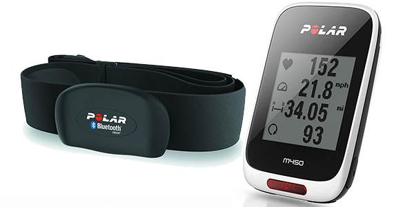 Ciclocomputador Polar M450 HR con GPS y sensor cardíaco H7