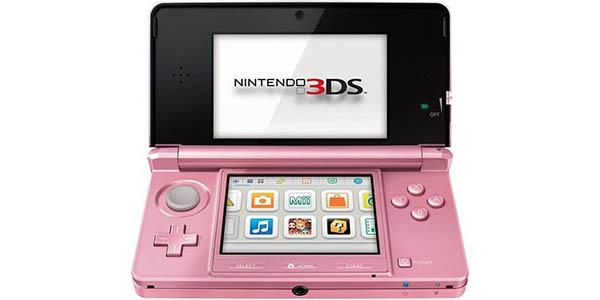Consola portátil Nintendo 3DS rosa coral