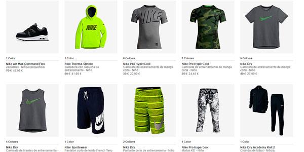 -20% de descuento en ropa, zapatillas y complementos para hombre mujer y niño en Outllet Nike