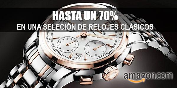 Relojes clásicos con descuento en Amazon