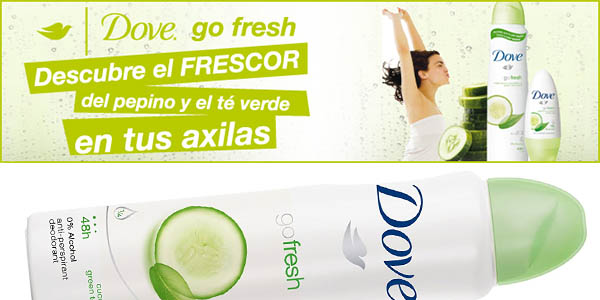 dove go fresh aero desodorante spray pepino te