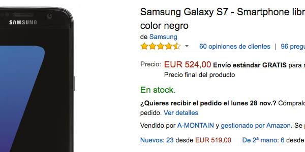 Samsung Galaxy S7 en Amazon