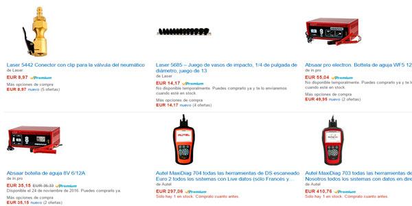 Promocion hasta 10% de descuento en herramientas para mecánicos y piezas de coches en Amazon